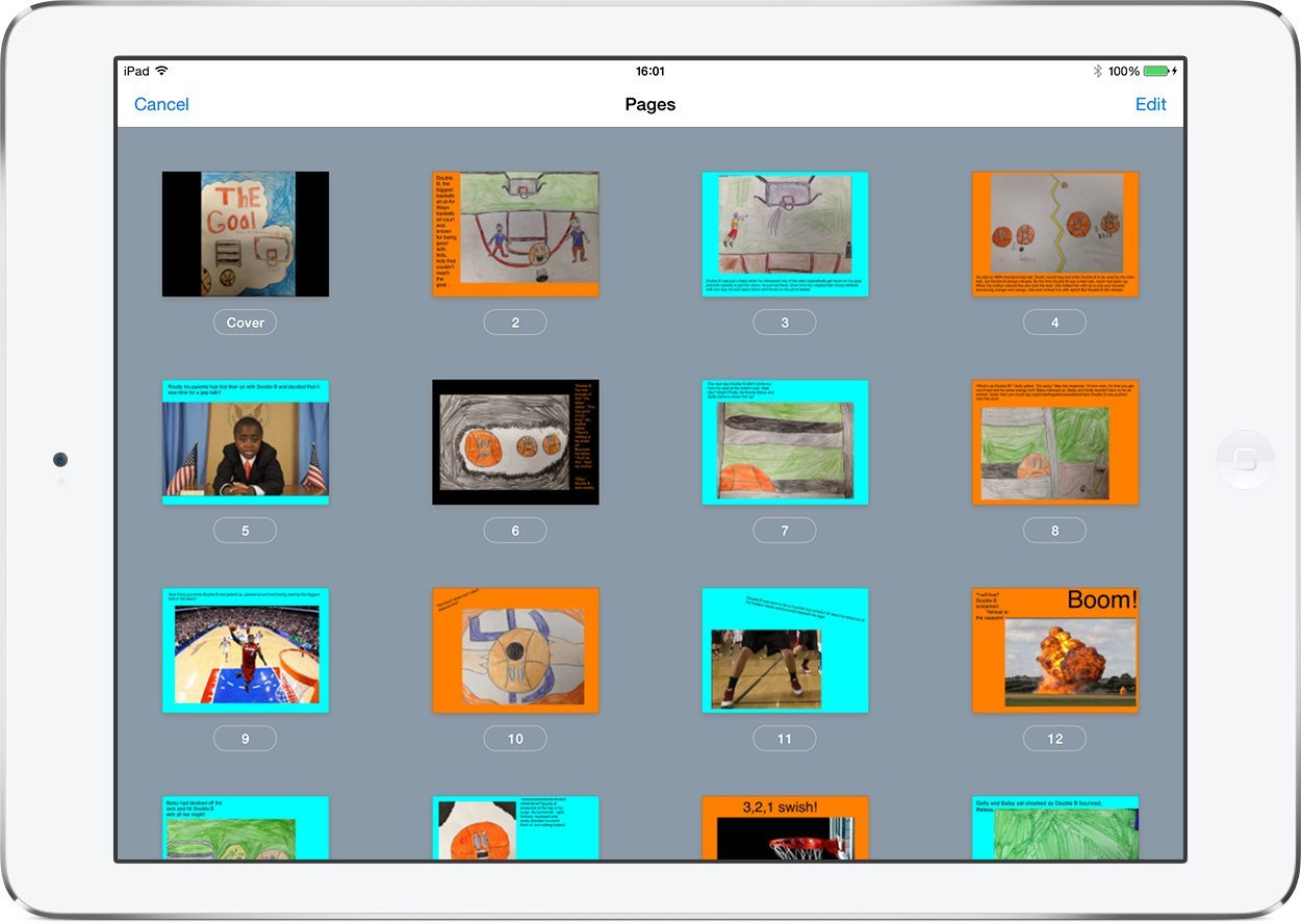 The Goal - page view in Book Creator