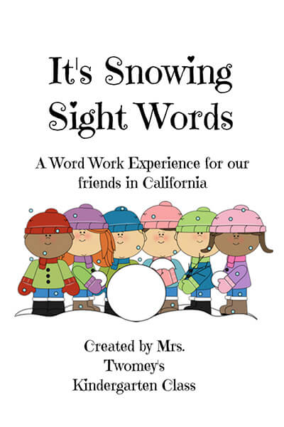 It's Snowing Sight Words front cover